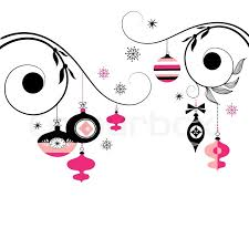 black and pink ornaments stock vector colourbox