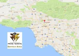 Los Angeles Area Map by Prime Termite Service Area Www Primetermite Com