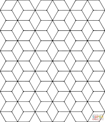 tessellation coloring pages broken glass tessellation coloring