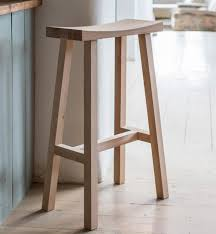 oak kitchen bar stools in raw oak or dipped charcoal colour