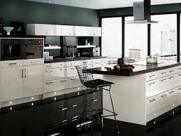 black modern kitchens home design apartments excellent black and white kitchen room