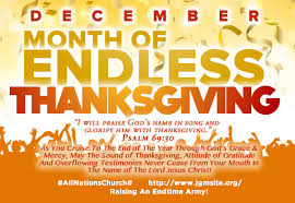 december month of endless thanksgiving jgm