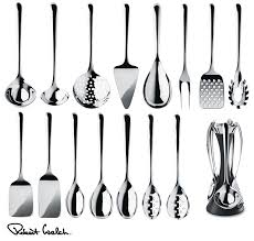 robert welch signature kitchen utensils set spoon turner or
