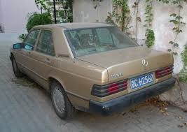 spotted in china w201 mercedes benz 190e in brown carnewschina