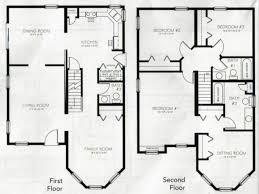 living room floor plans 4 bedroom 2 story house plans nrtradiant com