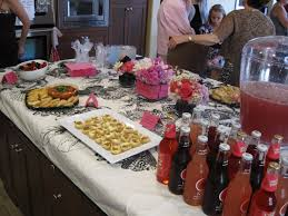 photo pink baby shower decorations image