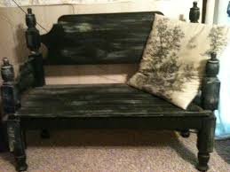 Bench Made From Bed Headboard 51 Best Headboard Bench Images On Pinterest Headboard Benches