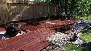 Wood Patio Flooring by Diy Pallet Flooring At No Cost