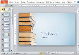 powerpoint template book theme free education powerpoint templates