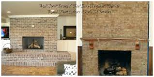 how to match wall paint colours to brown and tan toned brick fireplace