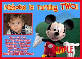 personalized mickey mouse birthday invitations reduxsquad