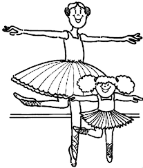 kids drawing ballerina coloring kids drawing ballerina