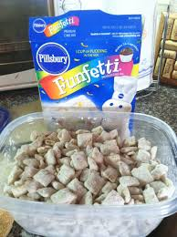cake batter puppy chow ingredients 1 box corn chex cereal the