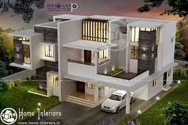 1700 sq ft contemporary double floor 4 bhk home designs