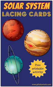 solar system lacing cards free solar system printables gift of