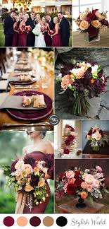 wedding colors wedding trends 10 fantastic burgundy color combos for 2017