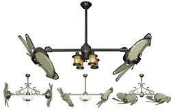 dual fan ceiling fan twin star ii double ceiling fan
