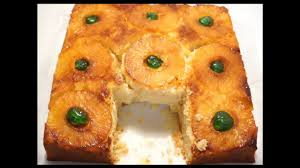pineapple upside down cake with green glazed cherries by crazy