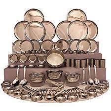 buy shri sam stainless steel dinner set 101 pieces silver
