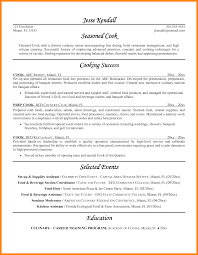 Cover Letter For Cook Resume Prep Cook Resume Cbshow Co