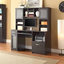 espresso desk with hutch whalen furniture