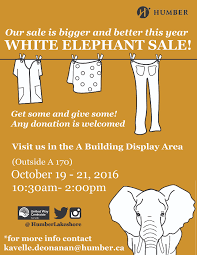 white elephant sale humber today