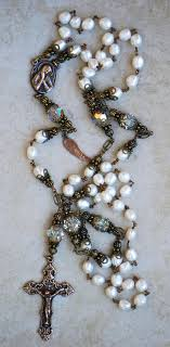 pearl rosary pearl rosary of sorrows seraphym designs