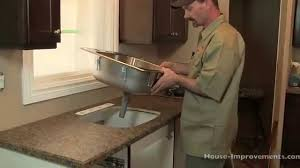 how to install kitchen sink faucet cabinet how to put in a kitchen sink how to remove and replace a