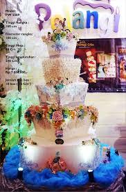 wedding cake jakarta harga wedding cake 5 tiers by pelangi cake bridestory