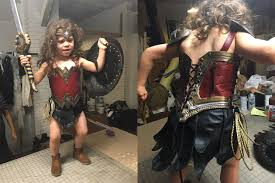 wonder woman halloween costume baby recreated wonder woman with her halloween costume