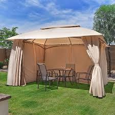 Outdoor Patio Canopy Gazebo 10 X 13 Outdoor Backyard Patio Gazebo Canopy Tent With Netting