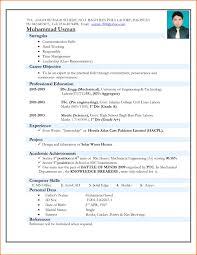 Excellent Resume Format Mechanical Resume Format Pdf Resume For Your Job Application