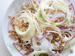 spiralized apple and fennel salad with wheat berries cooking light