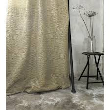 Mustard Curtain Brita Mustard Yellow Patterned Linen Mix Oeko Tex Fabric