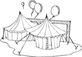 circus and carnival tents and balloons coloring pages bulk color