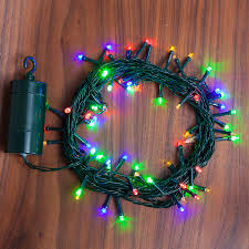 Battery String Lights With Timer by Lightscom String Lights Christmas Lights Multicolor 64 Led Battery
