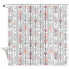 Coral And Gray Curtains Coral And Gray Shower Curtain Curtain Idea Arina In Interesting