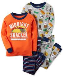 s 4 pc midnight snacker pajama set toddler boys 2t 5t