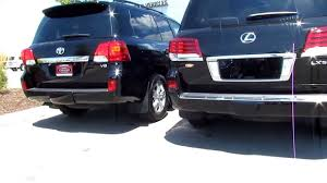lexus and toyota 2013 toyota landcruiser vs 2013 lexus lx 570 exterior differences