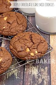 triple chocolate cake mix cookies the midnight baker