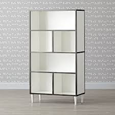 white solid wood bookcase tall metal and wood bookcase the land of nod