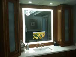 Led Lighted Mirrors Bathrooms Bathroom Lighting Illuminated Mirror Sensor Shaver Socket Lighted