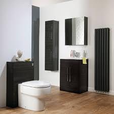 Cavalier Bathroom Furniture by Cassellie Idon Black Tall Storage Unit
