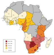 Labeled Africa Map by Subsaharan Africa