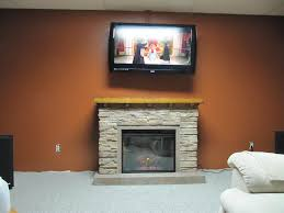 white and stone electric fireplace very innovative stone