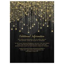 spanish wording for quinceanera invitations quinceañera invitation black and gold twinkle light cascades