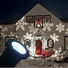 1x outdoor snowflake led projector wall lamp landscape light
