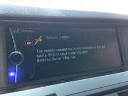 bmw 535i engine problems anyone problems with the remote not detected