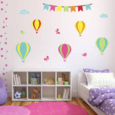 hot air balloon wall stickers set by mirrorin notonthehighstreet com hot air balloon wall stickers set
