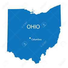 Columbus Ohio Map by Blue Map Of Ohio Royalty Free Cliparts Vectors And Stock